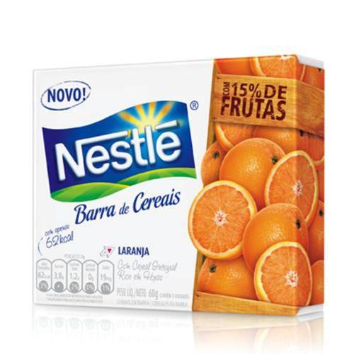 Barra de Cereal Nestlé Laranja 3 Unidades