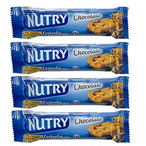 Barra de Cereal Nutry Castanha Chocolate Leve 4 Pegue 3 Unidades