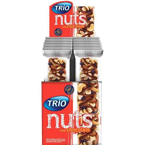 Barra de Cereal Nuts Tradicional com Chocolate 12 Unidades - Trio