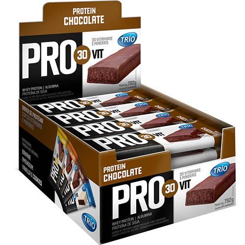 Barra de Cereal Trio Pro30Vit Chocolate 24 Unidades