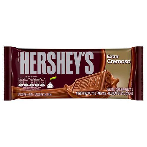 Barra de Chocolate Hersheys ao Leite Extra Cremoso 92g CHOC HERSHEYS 92G-TA EX CREM