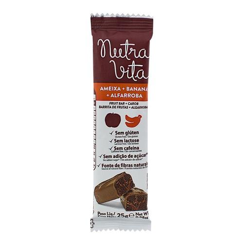 Barra de Fruta Nutra Vita Ameixa + Banana + Alfarroba Sem Adição de Açúcar com 25g