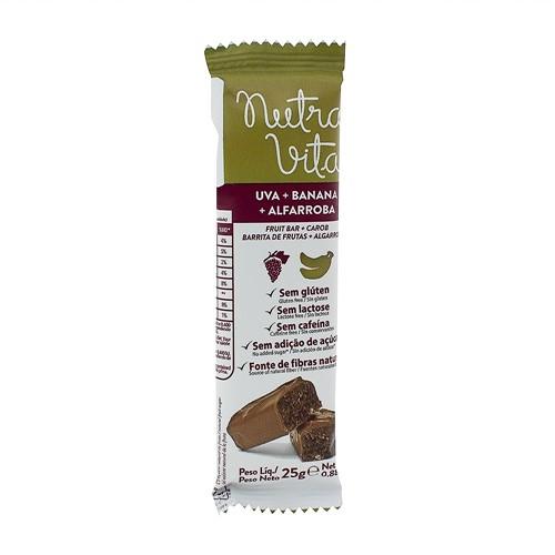 Barra de Fruta Nutra Vita Uva + Banana + Alfarroba Sem Adição de Açúcar com 25g