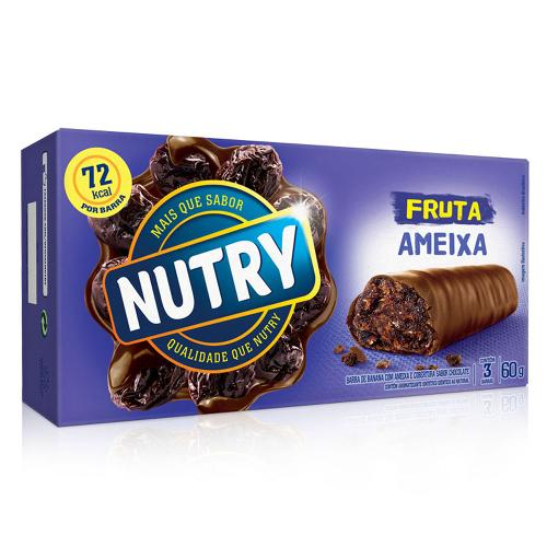 Barra de Frutas Nutry Frutas Banana Ameixa C/3 - Nutrimental
