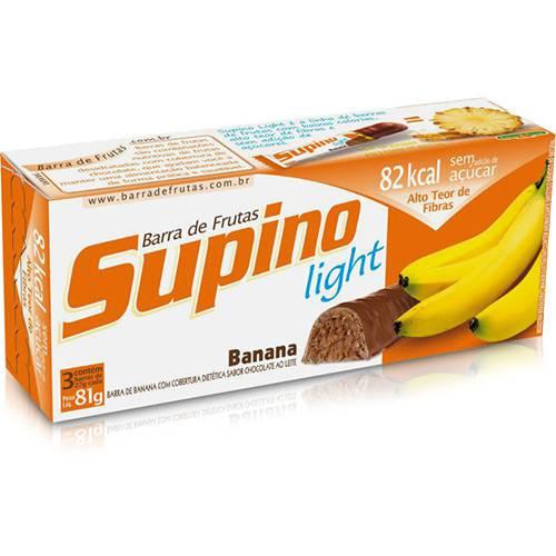 Barra de Fruta Supino Banana com Chocolate com 24g