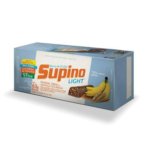 Barra de Frutas Supino Light Banana Fibras e Linhaça 21g Leve 3 Pague 2