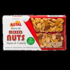 Barra de Mixed Nuts Agtal Nozes e Canela 60g (2x30g)