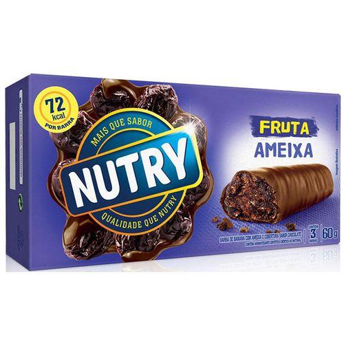 Barra Fruta Nutry 60g-cx com 3 Cob Choc Recheado Ameixa BR FRUTA NUTRY 60G-CX C/3 COB CHOC RECH AMEIXA