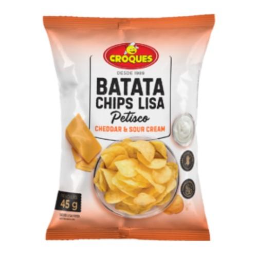 Batata Chips Lisa Croques Cheddar e Sour Cream 45g