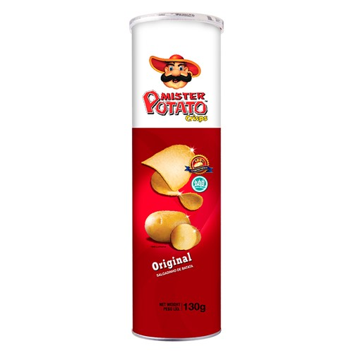 Batata Mister Potato Crisps Sabor Original 130g