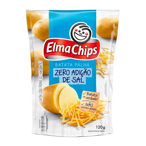 Batata Palha Elma Chips Zero Adição de Sal com 120g