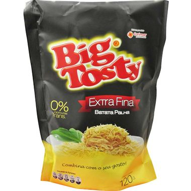 Batata Palha Extra Fina Big Tosty 120g
