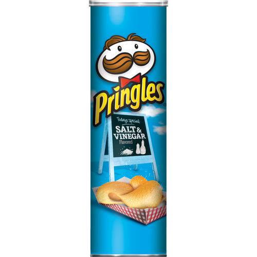 Batata Pringles Salt e Vinegar - Sabor Sal e Vinagre (158g)