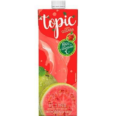 Bebida de Fruta Goiaba e Maçã Topic 1L