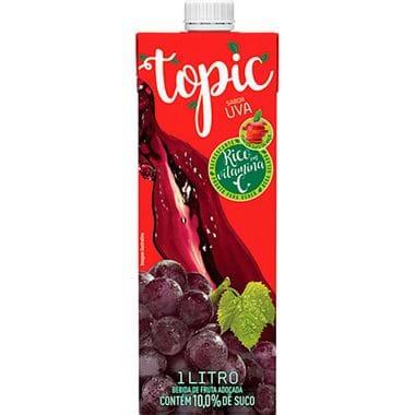 Bebida de Fruta Uva e Maçã Topic 1L