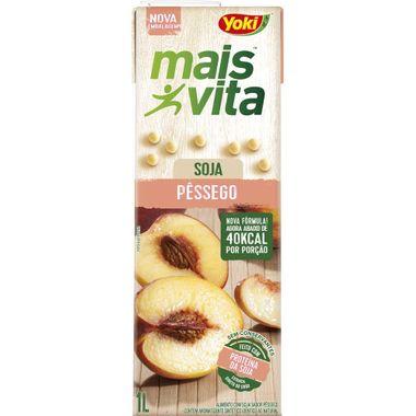 Bebida de Soja Mais Vita Sabor Pêssego Yoki 1L