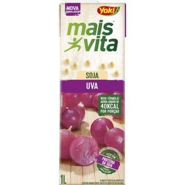 Bebida de Soja Mais Vita Sabor Uva Yoki 1L