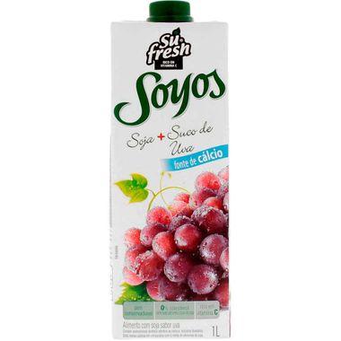 Bebida de Soja Soyos Sabor Uva Sufresh 1L