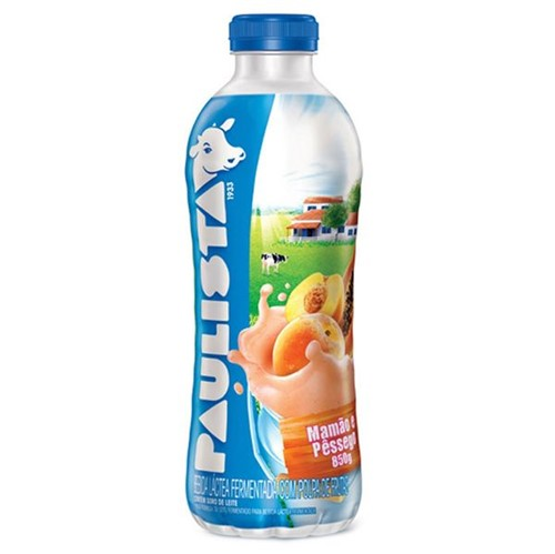 Bebida Lactea Liquida Paulista 850g Mamao e Pessego