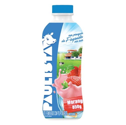 Bebida Lactea Liquido Paulista 850g Morango