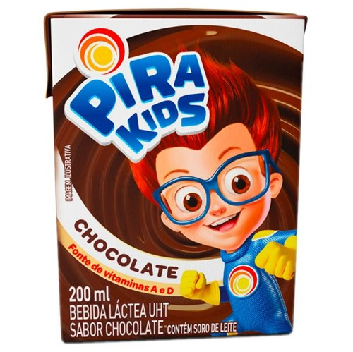Bebida Lactea Uht Pirakids 200ml Chocolate