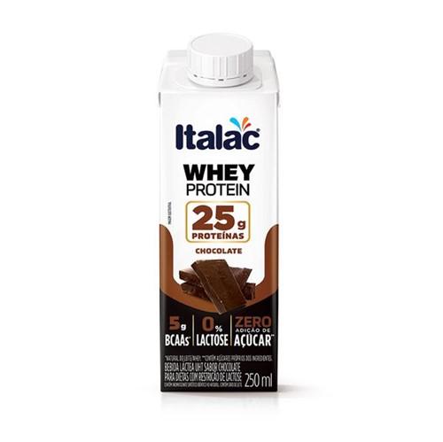 Bebida Lactea Whey Prot Italac 250ml Chocolate