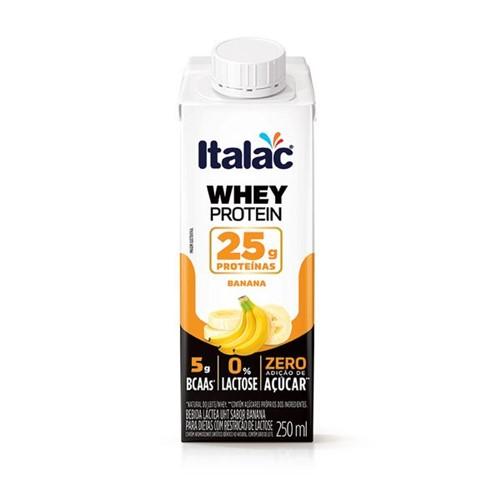 Bebida Lactea Whey Protein Italac 250ml Banana