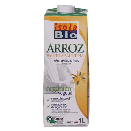 Bebida Leite Organico Isola Bio 1l Arroz Baunilha