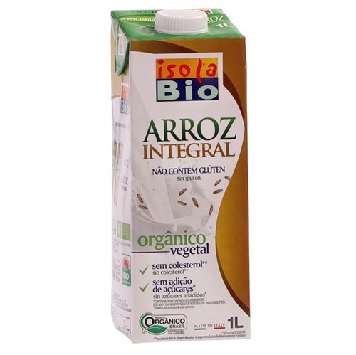 Bebida Leite Organico Isola Bio 1l Arroz Integral