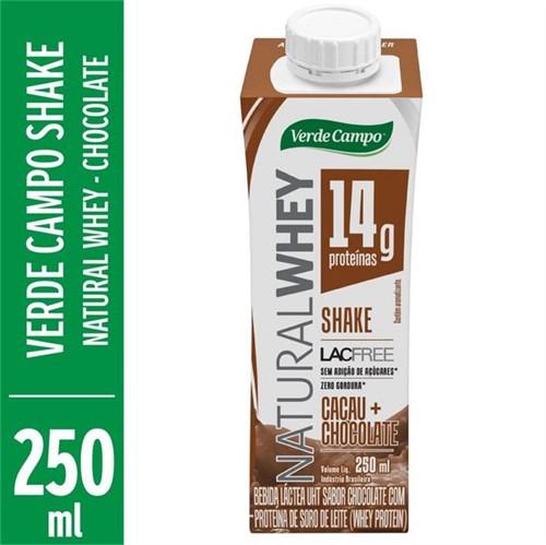 Bebida Natural Whey Verde Campo 250ml Shake Chocolate