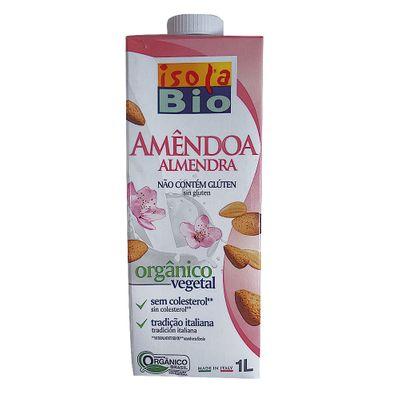 Bebida Vegetal Orgânica de Arroz com Amêndoa 1L - Isola Bio