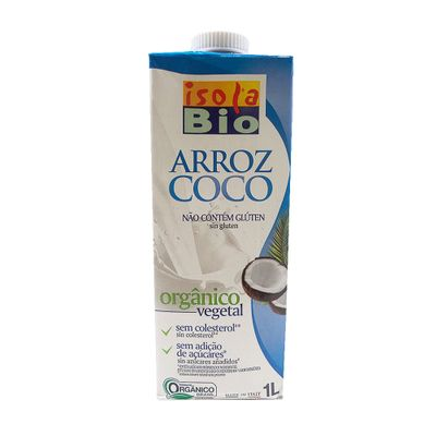 Bebida Vegetal Orgânica de Arroz com Coco 1L - Isola Bio