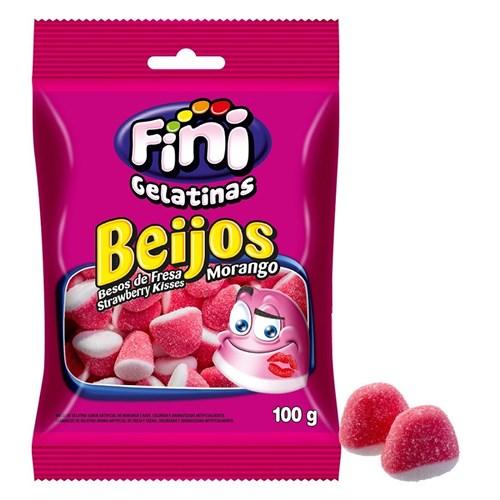 Beijos de Morango Fini - Kisses - Pacote 100 G
