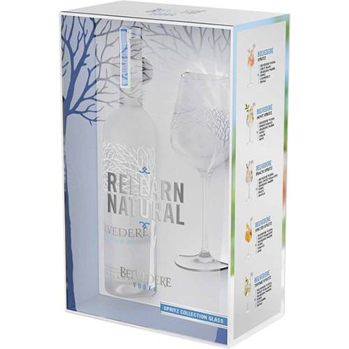 Belvedere Spritz Glass com 1 Taça de Vidro - 700ml