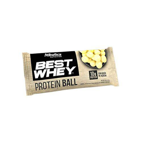 Best Whey Protein Ball (50g) - Atlhetica Nutrition Chocolate Branco
