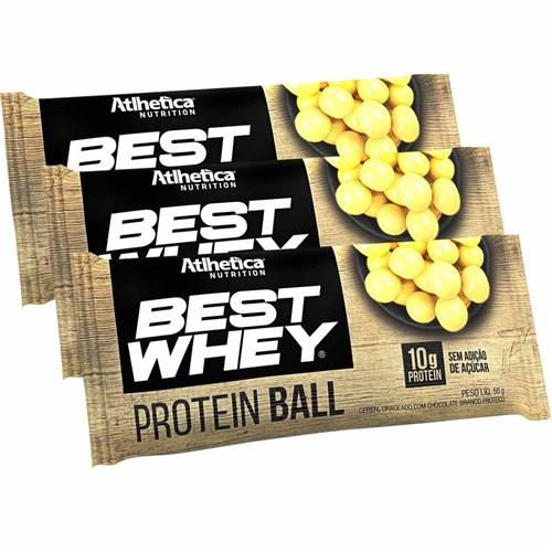 Best Whey Protein Ball 50g Chocolate Branco Proteico C/ 3 Unidades - Atlhetica Nutrition