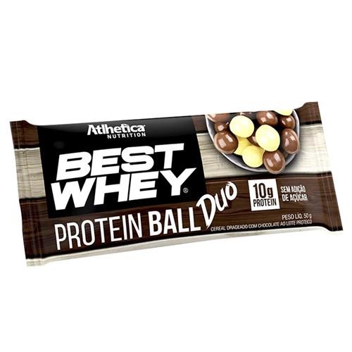 Best Whey Protein Ball Duo 50g Chocolate Branco e Chocolate ao Leite Proteico - Atlhetica Nutrition