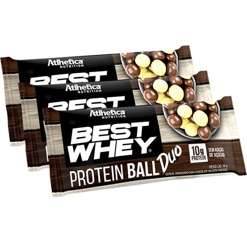 Best Whey Protein Ball Duo 50g Chocolate Branco e Chocolate ao Leite Proteico C/ 3 Unidades - Atlhetica Nutrition