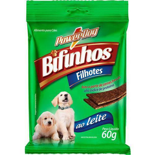 Bifinho para Cães Powerdog Filhote ao Leite 60 Gr