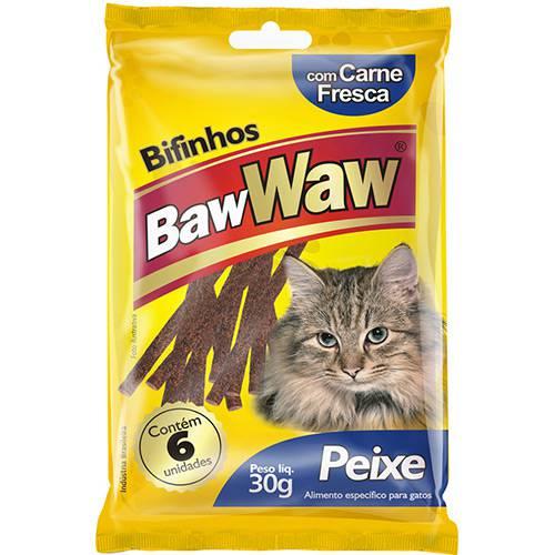 Bifinho para Gatos Peixe 30g - Baw Waw