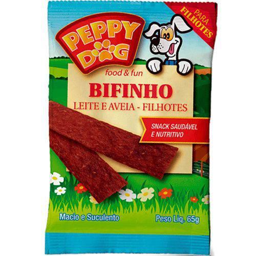 Bifinho Peppy Dog Filhote Sabor Leite e Aveia 65g