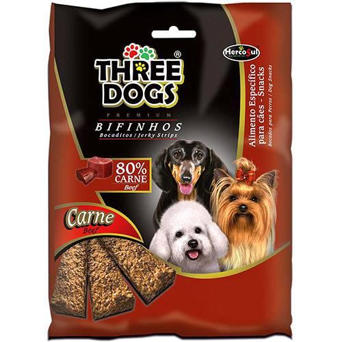 Bifinho Three Dogs Carne 60g - Hercosul