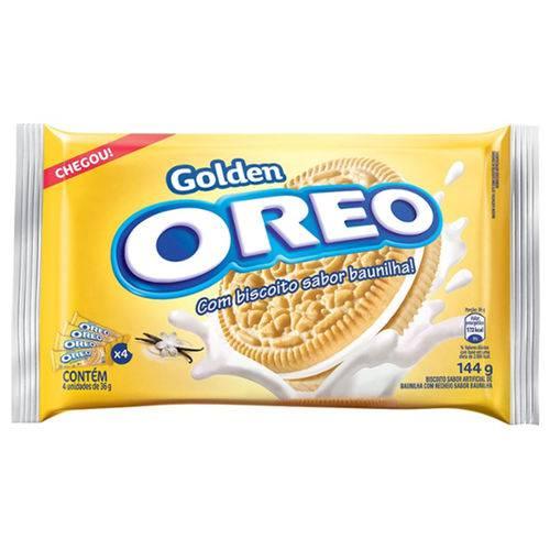 Bisc Rech Oreo 144g-mpack Golden Baun