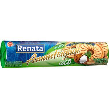 Biscoito Amanteigado de Coco Renata 330g