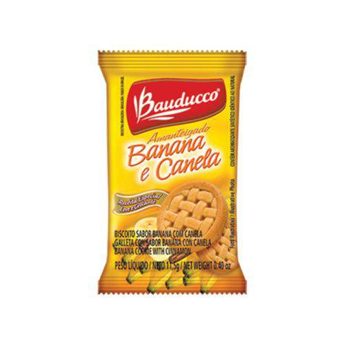 Biscoito Banana e Canela Bauducco Sachê 11,5g Caixa 400 Unidades