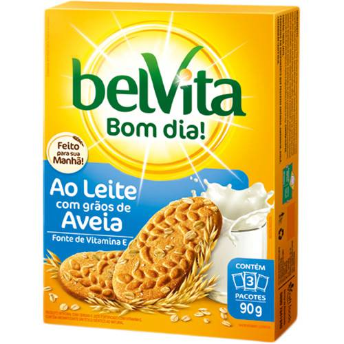 Biscoito Belvita Leite com Aveia 3 Unidades 30g (cada)