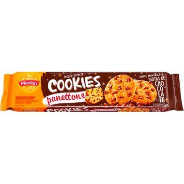 Biscoito Cookies Panettone com Gotas de Chocolates Marilan 80g