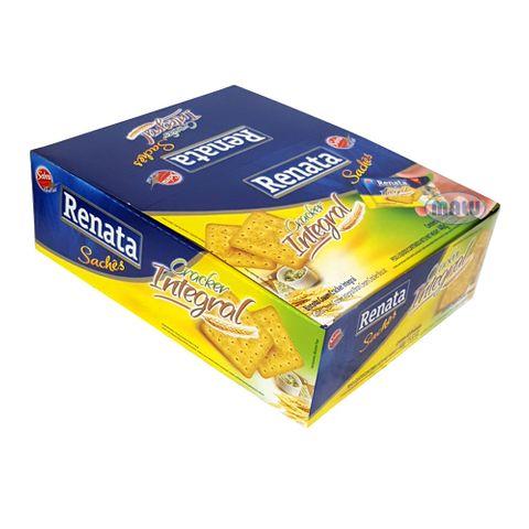 Biscoito Cream Cracker Integral Sachê C/40 - Renata