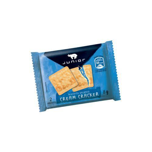Biscoito Cream Cracker Junior Sachê 8g Caixa 180 Unidades