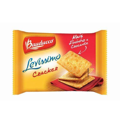 Biscoito Cream Cracker Levíssimo Caixa com 370 Sachês Bauducco